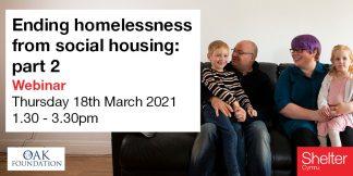 Ending homelessness from social housing part 2